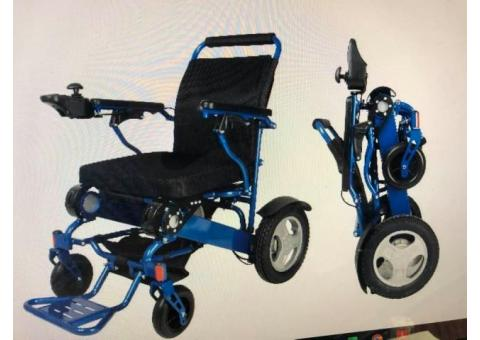 Electric/Manual Fold & Go wheelchair